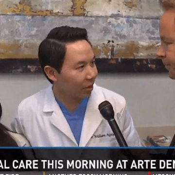 our dentist william nguyen during an interview